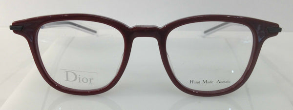Dior Homme Blacktie195 Red N0D Plastic Round Eyeglasses Frame 46-20-145 Italy RX
