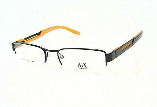 Armani Exchange AX127 Color 0JGH Black Metal Eyeglasses Frame 53-18-140 Semi Rim