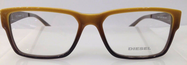 Diesel DL5027 Yellow Brown Gradient 041 Plastic Eyeglasses Frame 55-16-140 New
