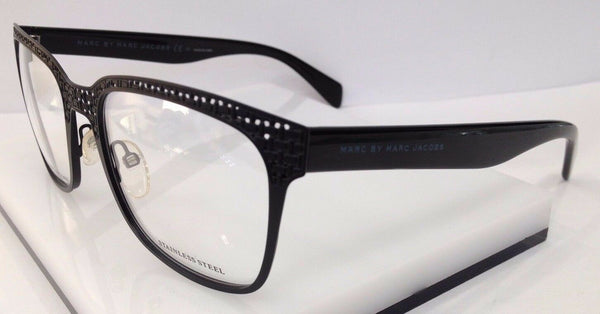 Marc By Marc Jacobs MMJ 613 Black MPZ Metal Eyeglasses Frame 53-18-145 New RX