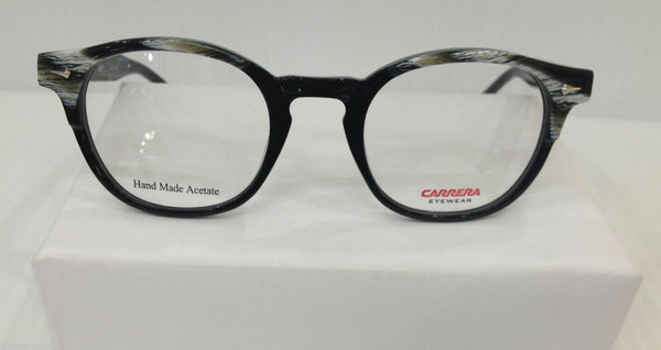 CARRERA CA 6191 7J3 BLACK PLASTIC ROUND EYEGLASSES FRAME AUTHENTIC NEW RX