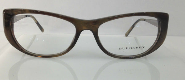 BURBERRY B 2168 Olive/Brown 3472 Plastic Eyeglasses Frame 53-16-135 Italy New