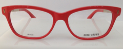 Bobbi Brown The Olive Red/Gold 4WS Plastic Eyeglasses Frame 50-15-140 Authentic