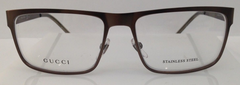 Gucci GG 2208 Brown D79 Metal Eyeglasses Frame 54-16-140 Italy New RX