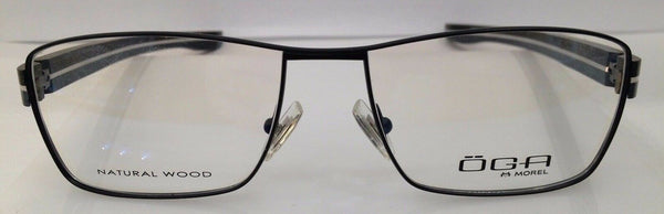 Oga Morel 8159O Black NE022 Eyeglasses Frame 54-16-140 New Natural Wood RX