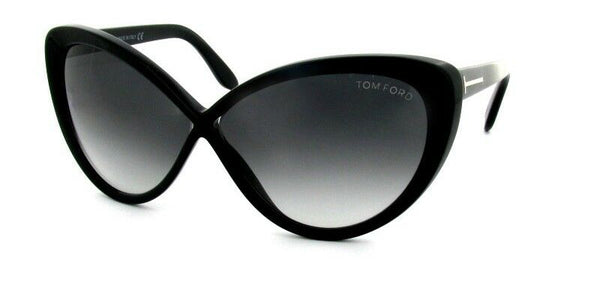 Tom Ford Madison TF 253 Black 01B Big Plastic Sunglasses Frame 63-10-135 Cat Eye