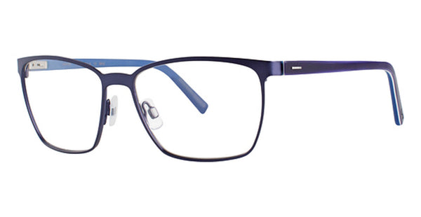 Lightec Morel France 8106L Matte Blue BB032 Plastic Eyeglasses Frame 55-16-135