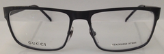 Gucci GG 2208 Grey XIY Metal Eyeglasses Frame 54-16-140 Italy New RX Authentic