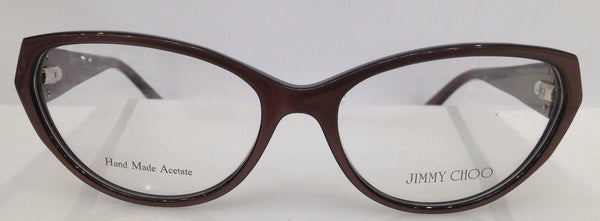 Jimmy Choo JC 73 Brown N3D Plastic Eyeglasses Frame 54-16-135 Italy Cat Eye