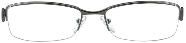 PRADA VPR 53N COLOR 2BB-1O1 SILVER W/BLACK METAL EYEGLASSES FRAME AUTHENTIC NEW