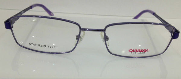 CARRERA CA 7553 OE9 PURPLE EYEGLASSES FRAME 51-17-135 AUTHENTIC NEW RX