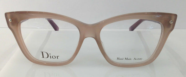 Christian Dior CD3269 Opal Brown 3JU Plastic Cat Eye Frames 52-15-140 Italy New