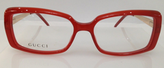 GUCCI GG 3546 RED GOLD 772 PLASTIC EYEGLASSES FRAME ITALY 52-15-135 NEW