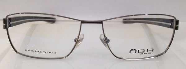 Oga Morel 8163O Gunmetal GG042 Eyeglasses Frame 58-16-140 New Natural Wood RX