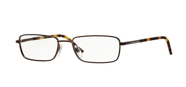 BURBERRY B 1268 Brown/Tortoise 1012 Metal Eyeglasses Frames 54-17-135 Italy New