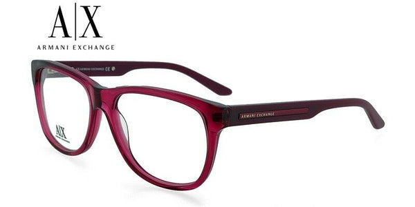 Armani Exchange AX237 BCF Pink/Red Wine Plastic Eyeglasses Frame New Authentic