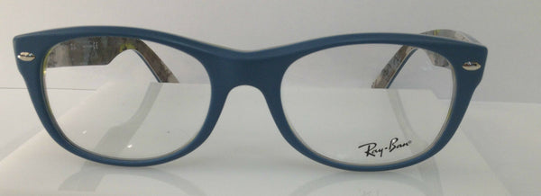 RAYBAN RB 5184 MATTE BLUE 5407 PLASTIC ROUND EYEGLASSES FRAME 52-18-145 NEW RX