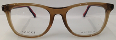 GUCCI GG 1056 TRANSPARENT BROWN 0WA PLASTIC EYEGLASSES FRAME 55-15-135 ITALY NEW