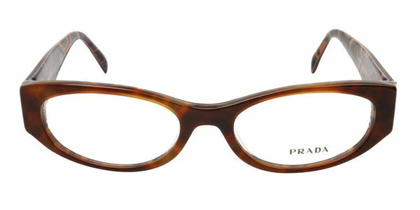 Prada VPR 03P Tortoise MAU-1O1 Plastic Eyeglasses Frame 53-17-140 Authentic New