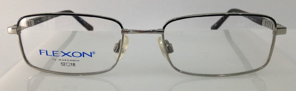 Marchon Flexon Michel Black Steel Metal Eyeglasses Frames 52-18-140 Flexible New
