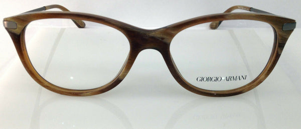 Giorgio Armani AR 7015 Color 5134 Striped Brown Italy Round Eyeglasses New 51mm