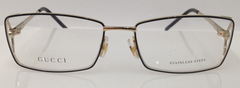Gucci GG 4212 Black/Gold 4Z6 Metal Women's Eyeglasses Frame 55-16-130 Italy New