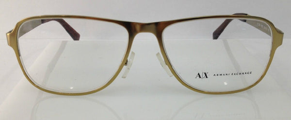 Armani Exchange AX1008 Matte Gold 6026 Metal Eyeglasses Frame 55-16-140 New