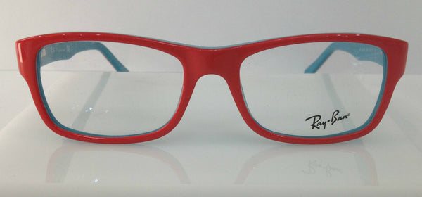 RAYBAN RB 5268 NEON RED & TURQUOISE 5376 PLASTIC EYEGLASSES AUTHENTIC 48-17-135