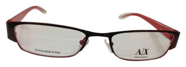 Armani Exchange Eyeglasses AX227 0YPA Brown Red Optical Metal New 50-17-135 New