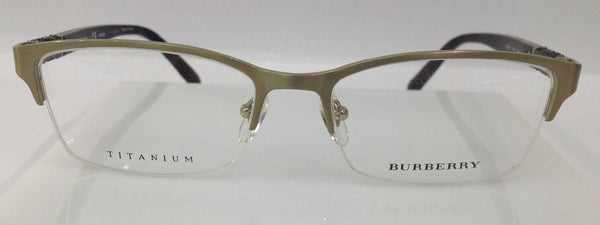 Burberry B 1280TD Gold 167 Titanium Metal Eyeglasses Frame Italy New 54-18-145