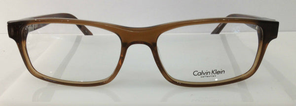 Calvin Klein CK7876 Crystal Brown 210 Plastic Eyeglasses Frame 54-17-140 New
