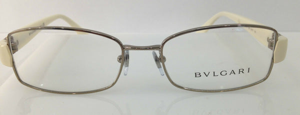 BVLGARI 2126-B Semi Gold 383 Metal Eyeglasses Frame 51-17-135  New 2126-B RX