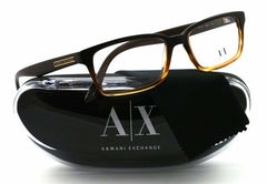 Armani Exchange AX150 Color 0E49 Brown Honey Plastic Eyeglasses Frame 54-16-145