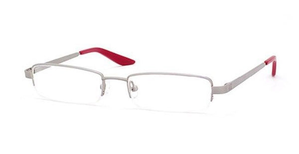 Armani Exchange AX101 Color 0FS4 Silver Red Semi Rim Eyeglasses 51-17-135 New