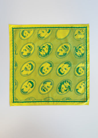 Cameo Hankie – Mx. Green Sass Green on Yellow