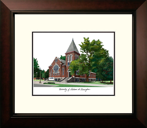 University of Alabama, Birmingham Legacy Alumnus Framed Lithograph