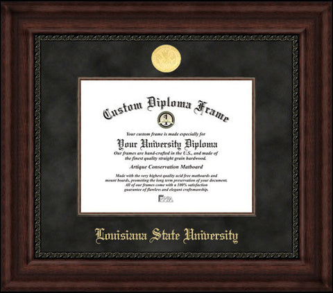 Louisiana State University 11w x 8.5h Executive Diploma Frame