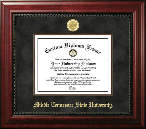 Middle Tennessee State 11w x 8.5h Executive Diploma Frame