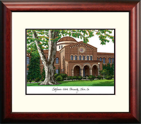 California State University, Chico Alumnus Framed Lithograph