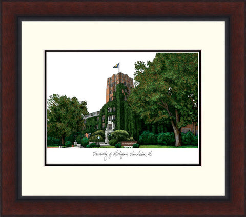 University of Michigan Legacy Alumnus Framed Lithograph