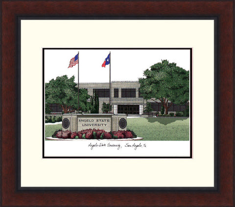 Angelo State University Legacy Alumnus Framed Lithograph