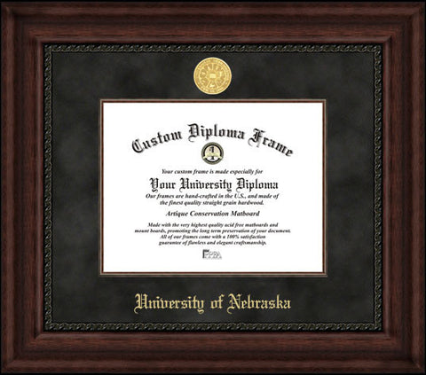 University of Nebraska 11w x 8.5h Executive Diploma Frame