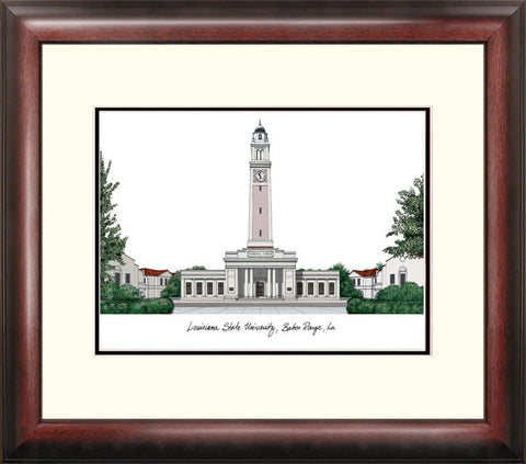 Louisiana State University Alumnus Framed Lithograph