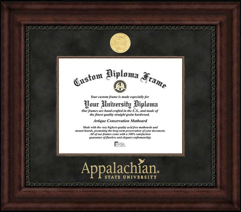 Appalachian State University 11w x 8.5h Executive Diploma Frame