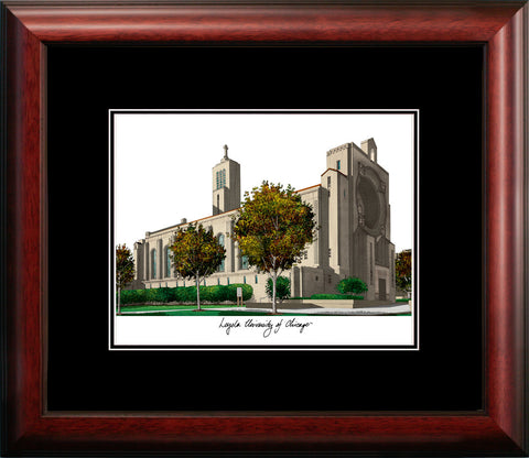 Loyola University Chicago Academic Framed Lithograph
