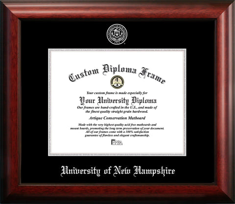 University of Michigan 11w x 8.5h Silver Embossed Diploma Frame