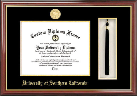 University of Southern California  11w x 8.5h Tassel Box and Diploma Frame