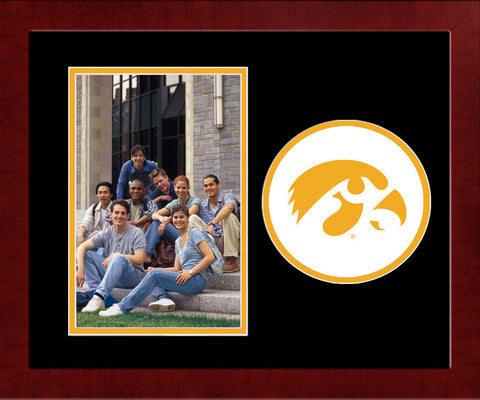University of Iowa  Hawkeyes Spirit Photo Frame (Vertical)