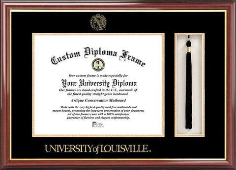 University of Louisville 17w x14h Tassel Box and Diploma Frame