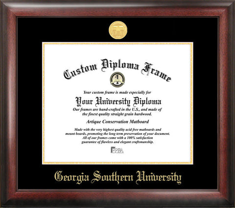 Georgia Southern 15w x 12h Gold Embossed Diploma Frame